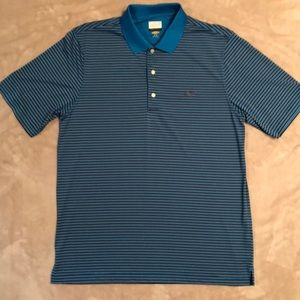 NWOT Turquoise Greg Norman Striped Golf Shirt